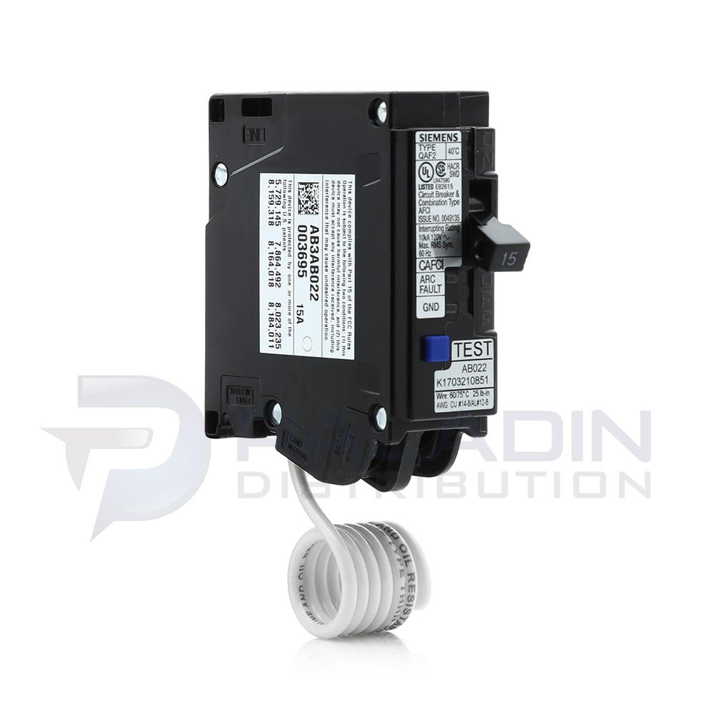 Siemens Qa115afc 15 Amp Single Pole 120
