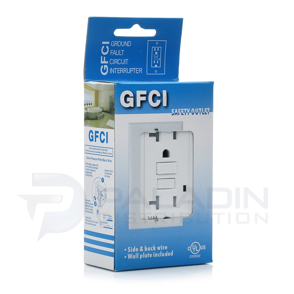 20 Amp Tamper Weather Resistant Gfci Outlet W Wall Plate Ul Ground Fault Circuit Interrupter Safety This Type Of Receptacles Wr Paladin