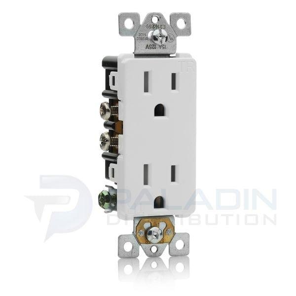 Enerlites 61501-TR-W 15 Amp Tamper Resistant Decorator Outlet ...