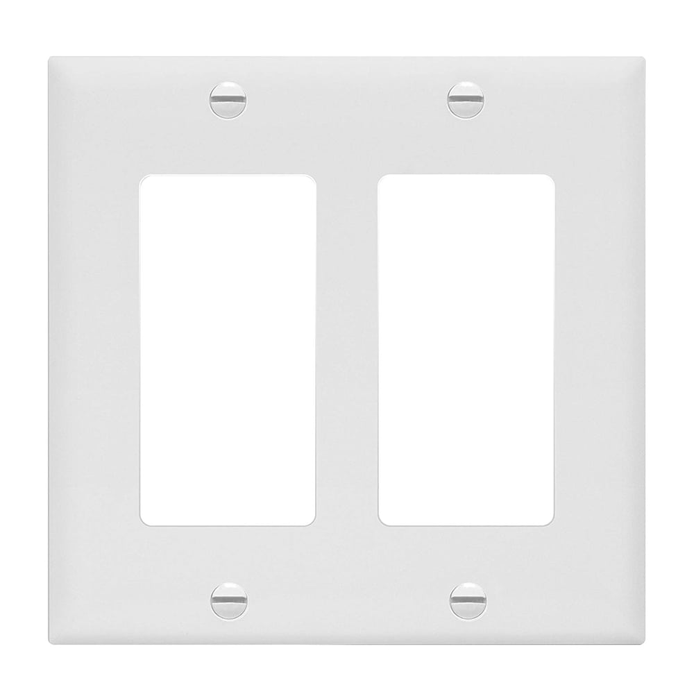 Unbreakable Decorator Switch Gfci Wall Plate Cover 2 Gang White