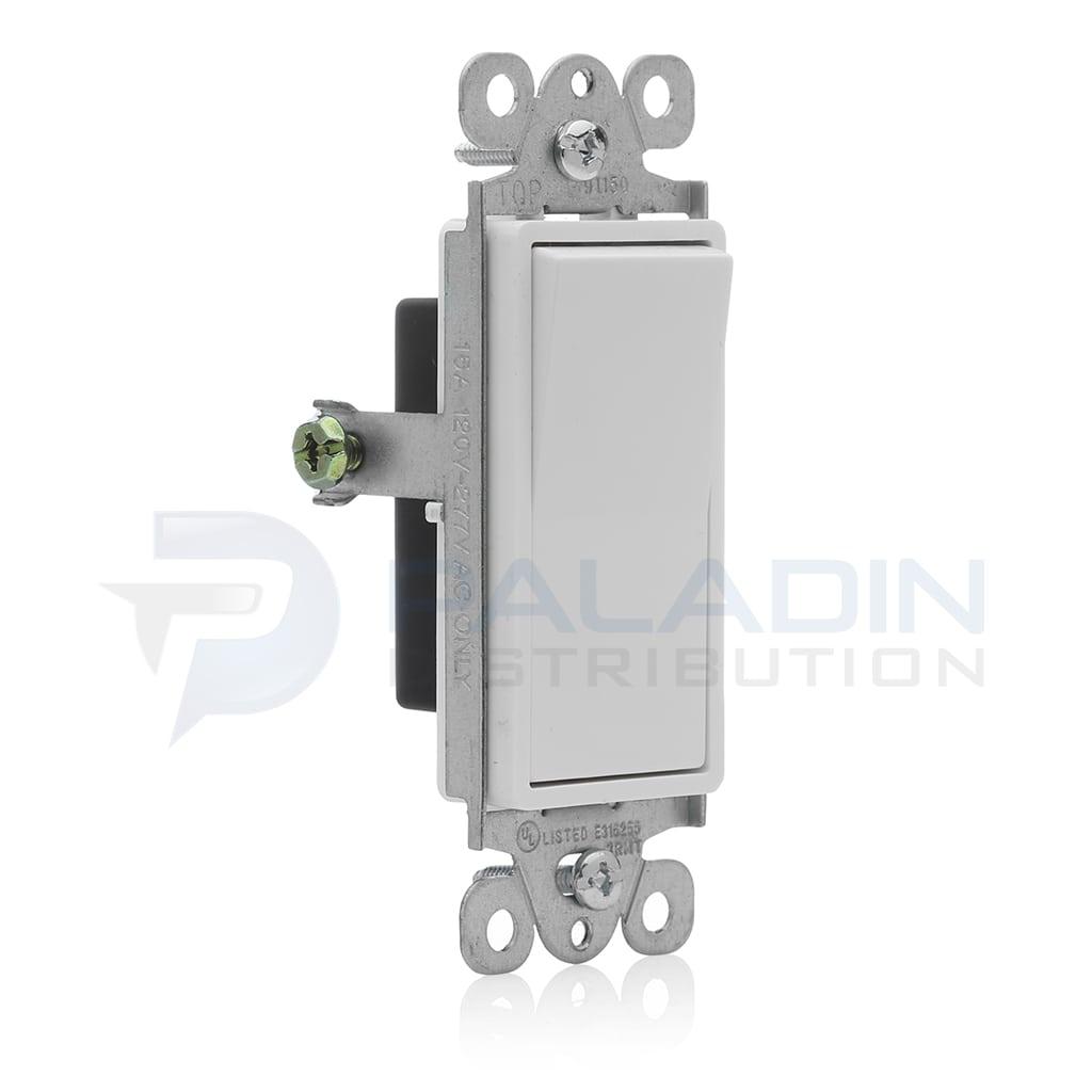 Enerlites 91150-W 15A Amp Decorator Rocker Light Switch, UL Listed ...
