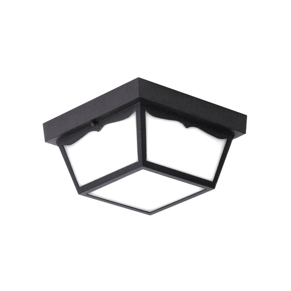 Euri Lighting Tzoidal Led Outdoor Ceiling Light 10 Inch 16 Watt Black