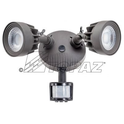 Topaz F Sl 24w 40k Wh Ms Dual Head Led Security Lighting W